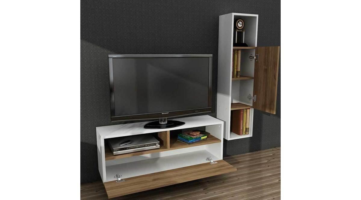 sara tv n tes beyaz cev z 90 cm vivense. Black Bedroom Furniture Sets. Home Design Ideas